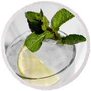 Mojito Detail Round Beach Towel by Gina Dsgn