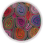 Mola Art Round Beach Towel by Heiko Koehrer-Wagner