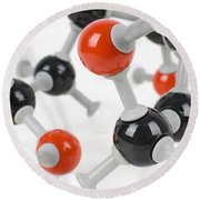 Molecule Model Round Beach Towel