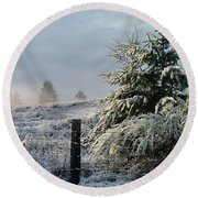 Round Beach Towel featuring the photograph Moment Of Peace by Rory Sagner