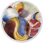Mom's Marble Shooter Round Beach Towel