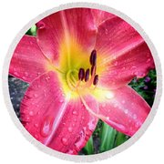 Mom's Secret Garden Round Beach Towel