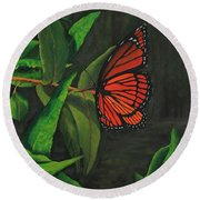 Viceroy Butterfly Oil Painting Round Beach Towel