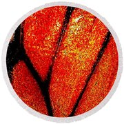 Monarch Wing Round Beach Towel