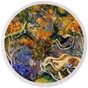 Monet Under Water Round Beach Towel
