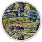 Monet's Bridge Round Beach Towel