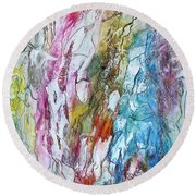 Monet's Garden Round Beach Towel