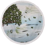 The Money Tree Round Beach Towel