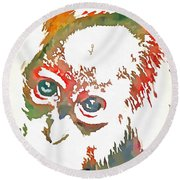 Monkey Pop Art Round Beach Towel