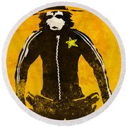 Monkey Sheriff Round Beach Towel