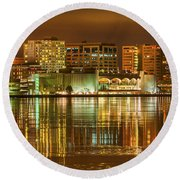 Monona Terrace Madison Wisconsin Round Beach Towel