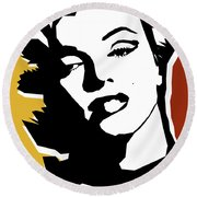 Monroe Round Beach Towel by Mark Ashkenazi