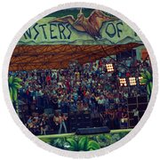 Monsters Of Rock Stage While A C D C Started Their Set - July 1979 Round Beach Towel