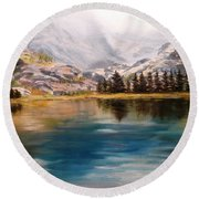 Montana Reflections Round Beach Towel