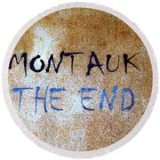 Montauk-the End Round Beach Towel by Ed Weidman
