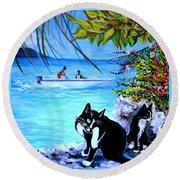 Montego Bay. Part One Round Beach Towel by Anna  Duyunova