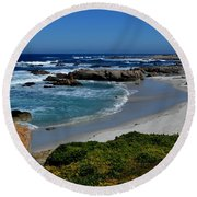 Monterey-1 Round Beach Towel by Dean Ferreira