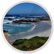 Round Beach Towel featuring the photograph Monterey-1 by Dean Ferreira