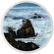 Round Beach Towel featuring the photograph Monterey-2 by Dean Ferreira