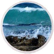 Round Beach Towel featuring the photograph Monterey-3 by Dean Ferreira