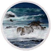 Round Beach Towel featuring the photograph Monterey-6 by Dean Ferreira