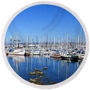 Monterey-7 Round Beach Towel by Dean Ferreira