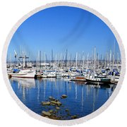 Round Beach Towel featuring the photograph Monterey-7 by Dean Ferreira