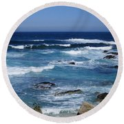Round Beach Towel featuring the photograph Monterey-9 by Dean Ferreira