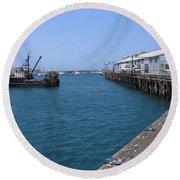 Monterey Municipal Wharf Round Beach Towel