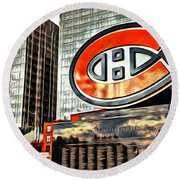 Montreal C Round Beach Towel by Alice Gipson