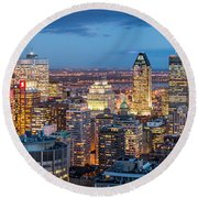 Montreal Panorama Round Beach Towel