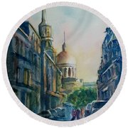 Montreal Skyline Round Beach Towel