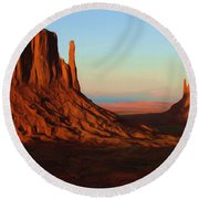 Monument Valley 2 Round Beach Towel by Ayse Deniz