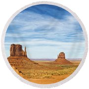 Monument Valley Panorama - Arizona Round Beach Towel