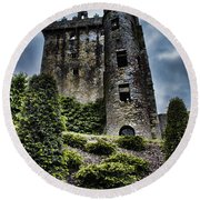 Moody Castle Round Beach Towel