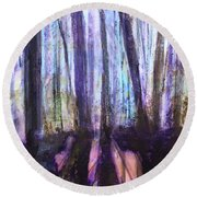 Moody Woods Round Beach Towel