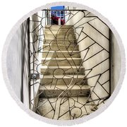 Moon And Gate Round Beach Towel