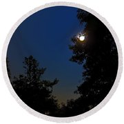 Round Beach Towel featuring the photograph Moon And Pegasus by Greg Reed