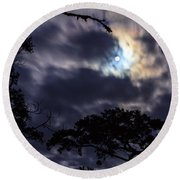 Moon Break Round Beach Towel