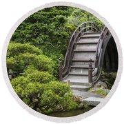 Moon Bridge - Japanese Tea Garden Round Beach Towel