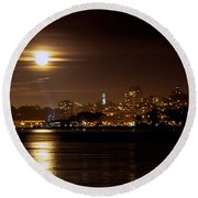Round Beach Towel featuring the photograph Moon Glow by Steven Reed