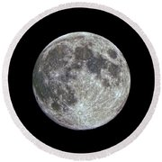 Round Beach Towel featuring the photograph Moon Hdr by Greg Reed