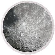 Moon Hi Contrast Round Beach Towel by Greg Reed
