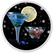 Moon Light Cocktail Lemon Flavour With Stars 1 Round Beach Towel