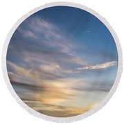 Moon Over Doheny Round Beach Towel