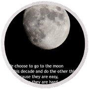 Moon Speech Round Beach Towel by Kenny Glotfelty