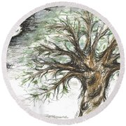 Moon Whisper  Round Beach Towel by Teresa White