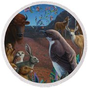 Moonlight Cantata Round Beach Towel