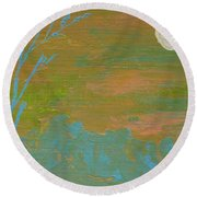 Moonlight In The Wild Round Beach Towel