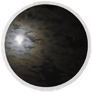 Round Beach Towel featuring the photograph Moonlight by Marilyn Wilson